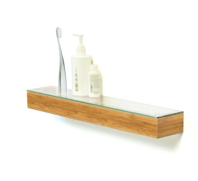 Glass Shelf Bamboo