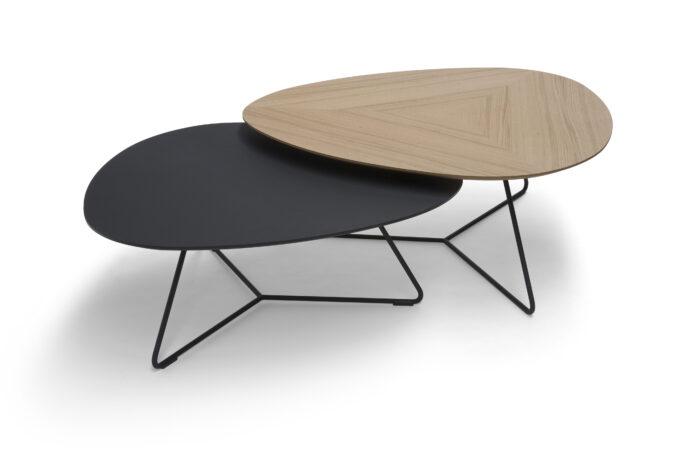 Twinny Table Oak/Black