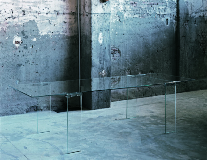 Naked Glass Table