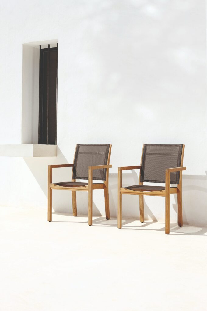 Siena Teak Chair - Fabric