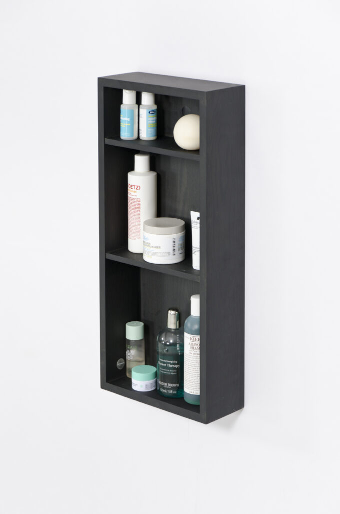 Box Shelf Slimline Dark oak