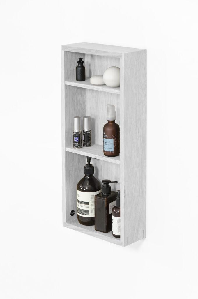 Box Shelf Slimline Oyster White