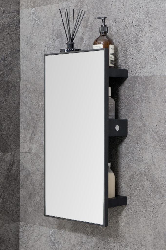 Mirror 3 trays slimline dark