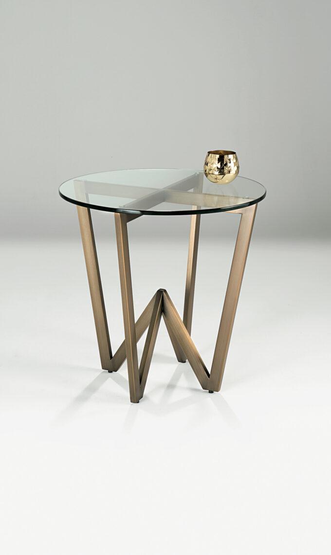 Angle Circular Side Table
