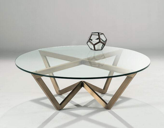 Angle Circular Coffee Table