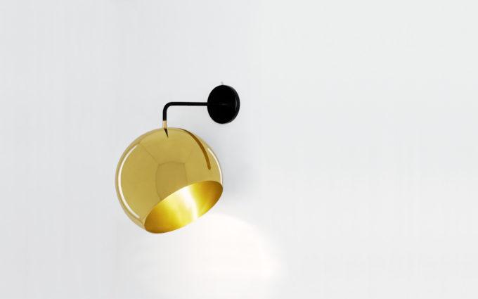Tilt Globe Wall Brass