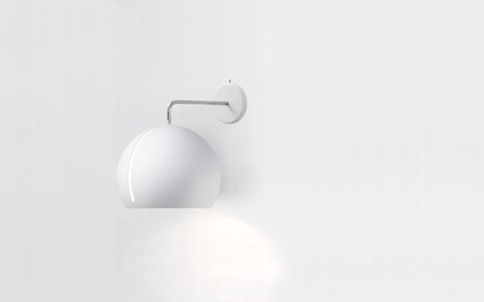 Tilt Globe Wall White