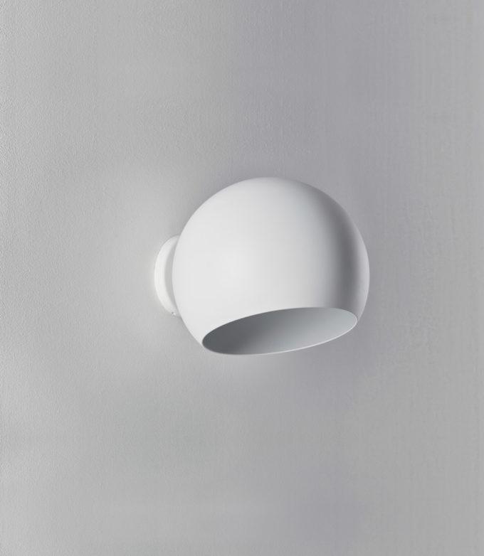 Tilt Globe Wall Short White
