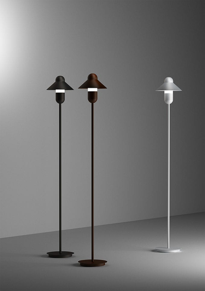 Capsule Hat Floor Lamp