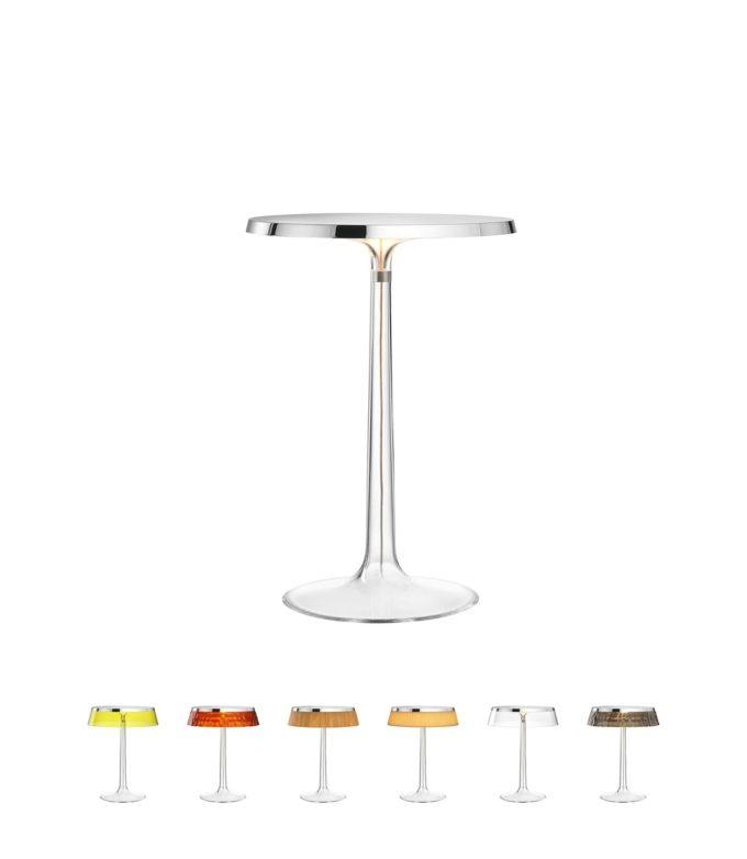 Bon Jour Table Lamp chrome