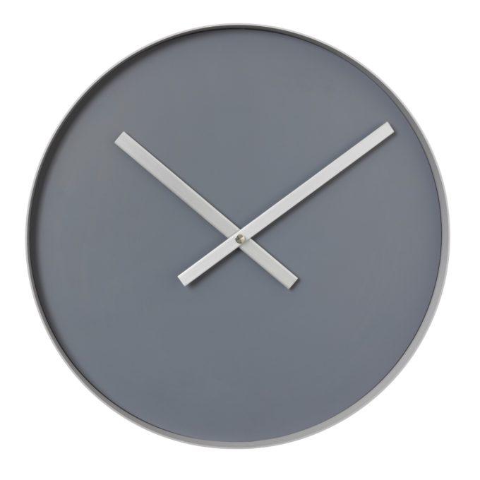 Rim Clock Large - Steel grey